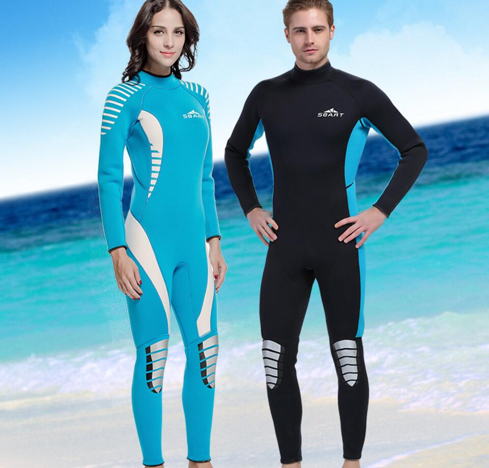 Couple Brand 3mm Neoprene Wetsuit Thermal Long Sleeve Warmth One-piece Swimwear Snorkeling Scuba Diving Suit Swimsuit Jumpsuit men s winter warm swimwear rashguard male camouflage one piece swimsuit 3mm neoprene wetsuit man snorkeling diving suit