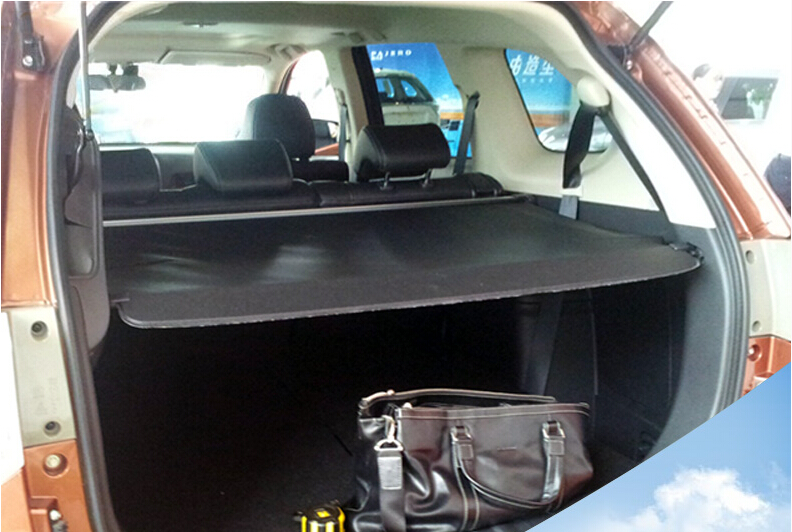 Black Cargo Cover Security Shield Rear Trunk For Mitsubishi Outlander 2013-2017 car rear trunk security shield shade cargo cover for nissan qashqai 2008 2009 2010 2011 2012 2013 black beige