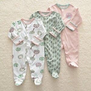 Image 3 - Bebê menina/menino macacão bebê 3 em 1 flor recém nascido roupas do bebê recém nascido macacão infantil primavera/outono/inverno pijamas