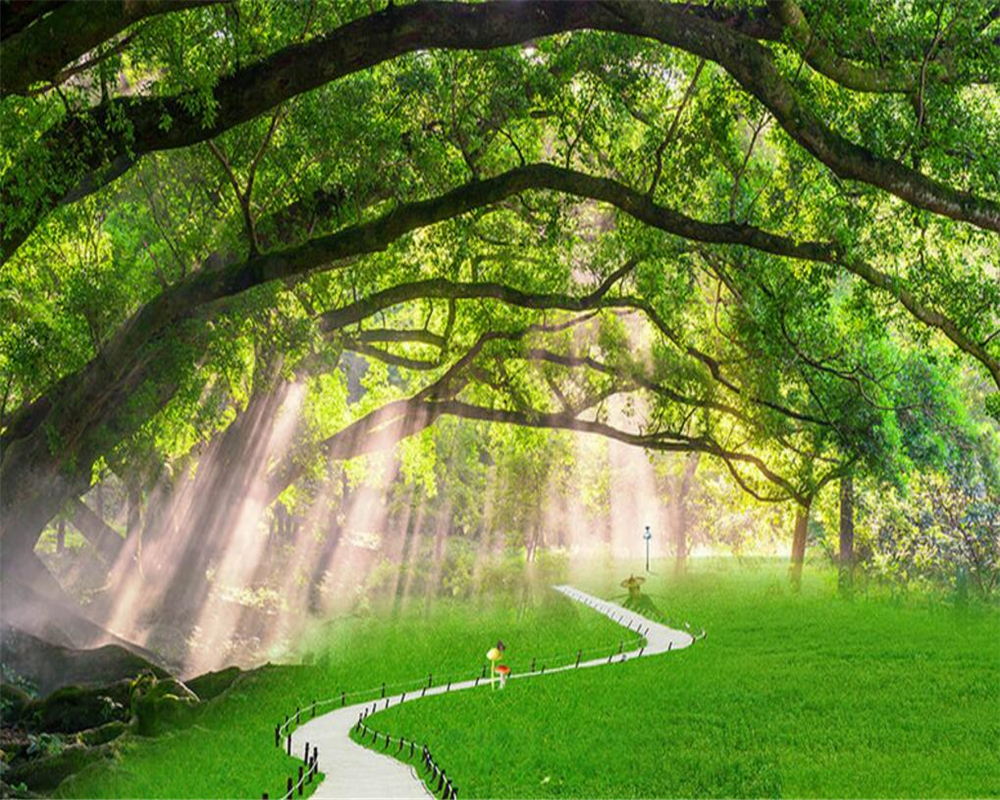 Beibehang 3D Wallpaper Alam Pemandangan Pohon Foto Wallpaper 3D