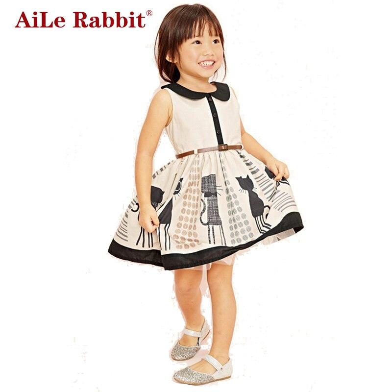 AiLe Rabbit 2017 Summer New Stylish Kids Toddler Girls Princess Dress Sleeveless Polka Dots Bowknot Dress Top quality Cute kids toddler girls princess dress sleeveless polka dots bowknot party princess dresses summer dress