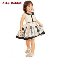 2014 Summer New Cute Girls Peppa Pig Dress Kids Children Clothing Rose Red Colorful Striped Tops