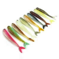 90pcs fish soft fishing lures 10 colors fishing bait 8.9CM 3.1G Soft lures isca artificial para pesca soft plastic lures