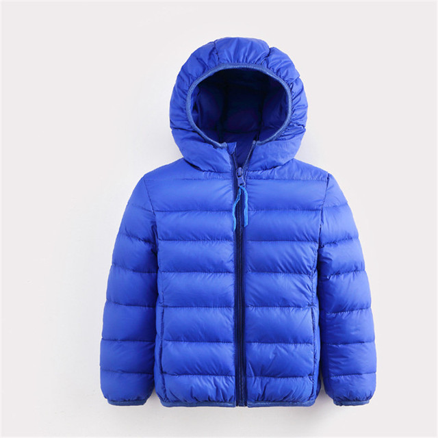 Winter Children Boys Down Jacket Hooded Thick Sold Girl Coat  Keep Warm Snow Coat 7 Color Winter Outwear Jacket dj022