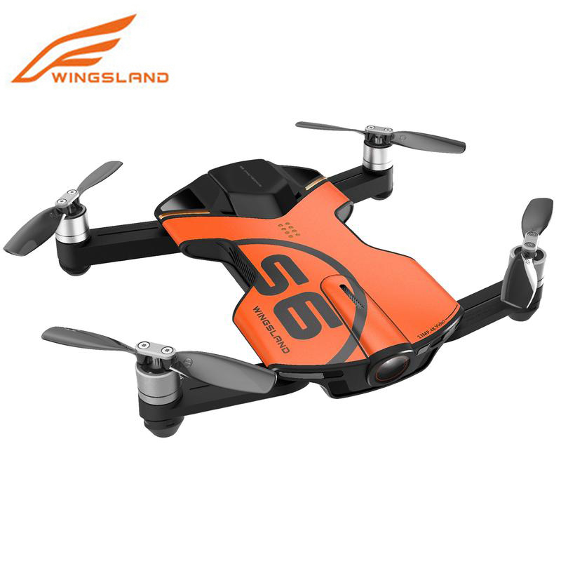 Wingsland S6 Drone 4 К Quadcopter с Камера Квадрокоптер Профессиональный Drone Мини Wi-Fi Карманный селфи Дрон Камера VS DJI Spark