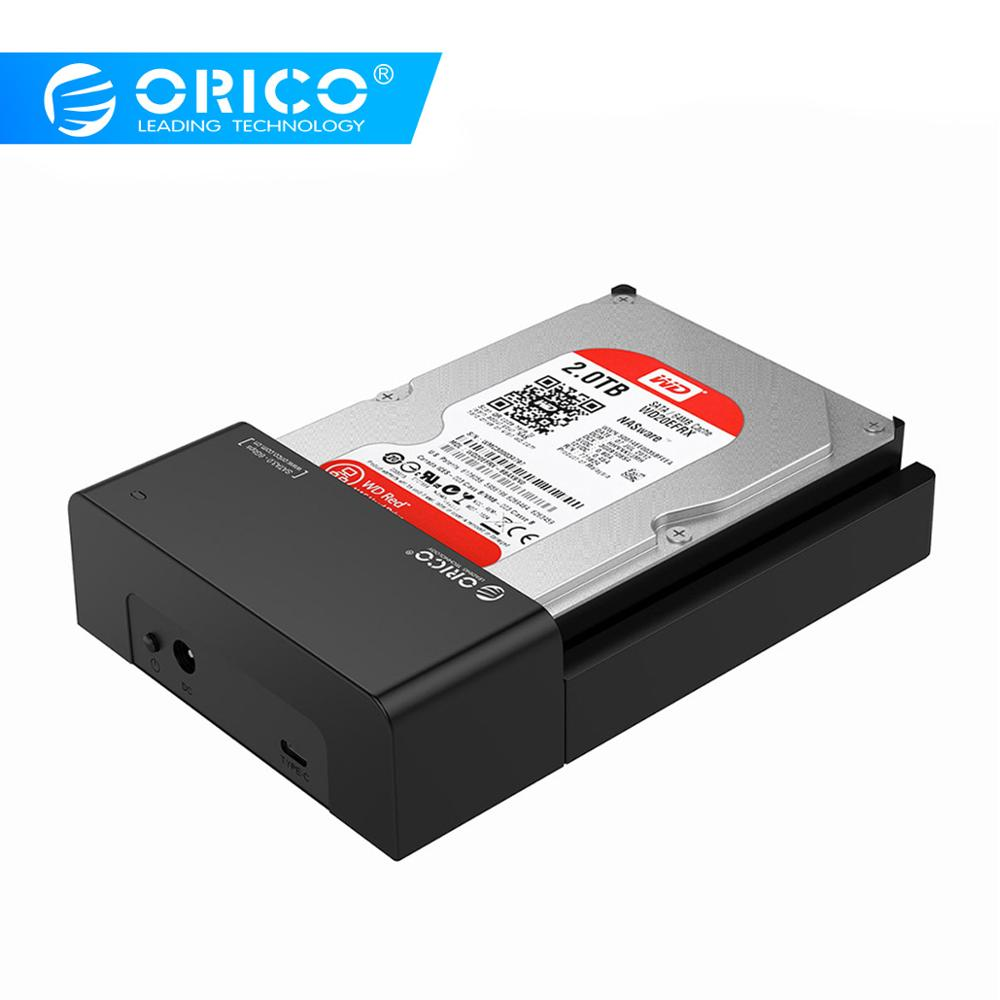 ORICO 6518C3 2.5/ 3.5 inch HDD Docking Station SATA 3.0 to USB3.1 Type C Hard Disk Enclosure SSD HDD Case Support UASP 8TB .-in HDD Enclosure from Computer & Office    1