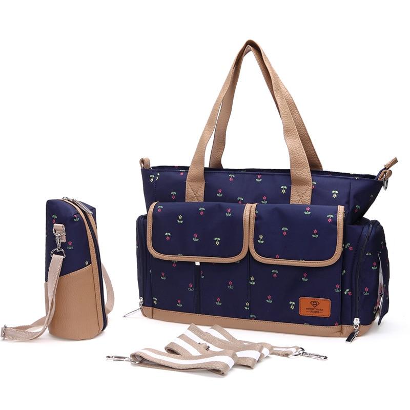 все цены на 2017 New Waterproof Large Capacity Durable Fashion Diaper Messenger Shoulder Stroller Bag For Babies Pregnant Women Mother Bag онлайн