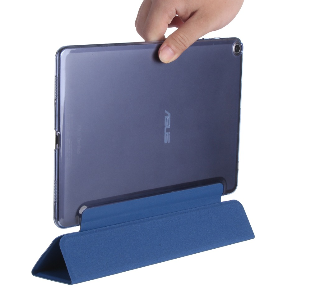 Super Thin Slim Lightweight 3-Folding Folio Stand PU Leather Protective Cover Case For Asus Zenpad 3S 10 Z500M 9.7 inch Tablet