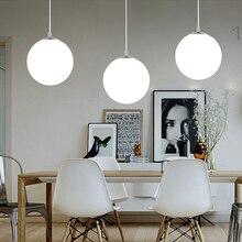 Nordic Led Pendant Lights Lustre Loft Glass Ball Art Decor Luminaire Suspendu Living Room Dining Room Home Lighting Hanging Lamp