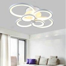 Modern creative white color  LED ceiling lamp living room study room bedroom lighting fixture home light AC110V 220V