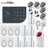 SmartYIBA WI FI GSM проводной Главная охранной Системы Беспроводной Siren приложение Управление sms оповещение Панель видео IP Камера