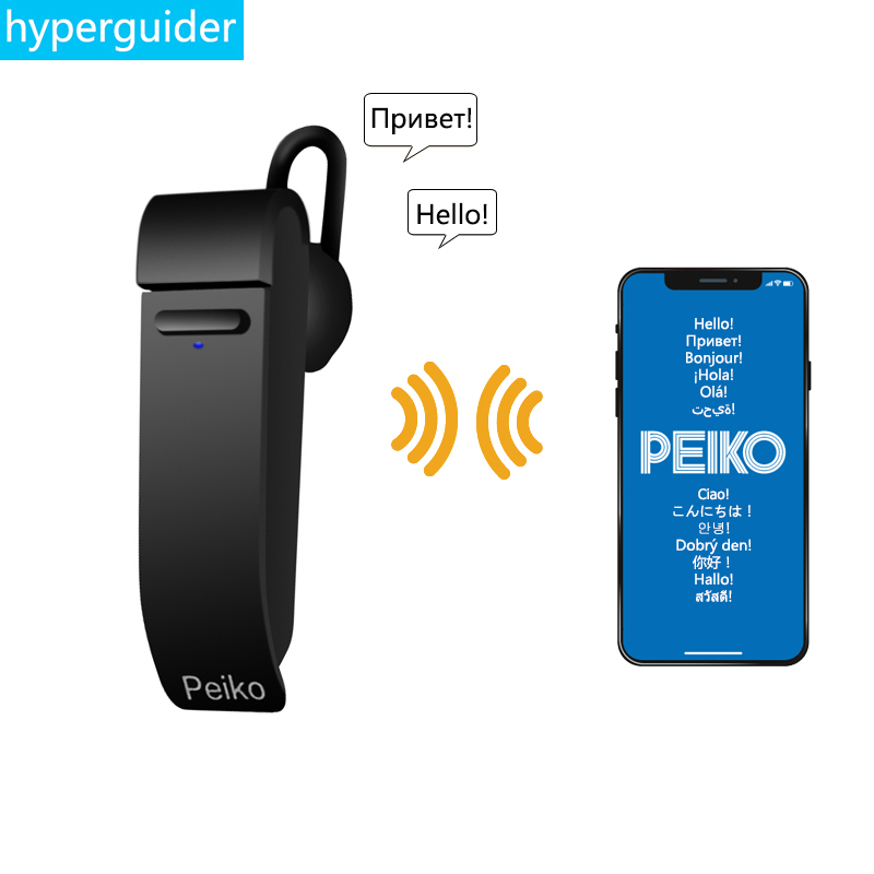 Für Abu Dropshipping Großhandel Peiko Übersetzen Kopfhörer Wireless Geschäft Ohrhörer 23 Sprachen Smart Dual Modus Bluetooth Headset