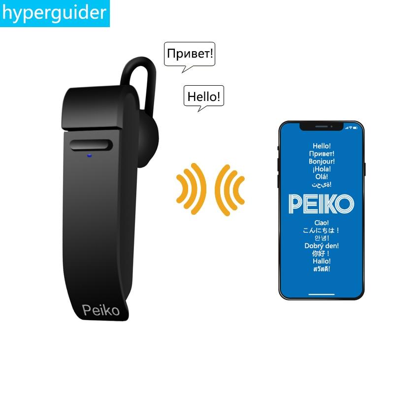 Para al por mayor Dropshipping. exclusivo. Peiko traducir auricular inalámbrico de auriculares 25 idiomas auriculares Bluetooth soporte personalizado
