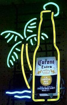 Corona bottle Palm Tree Neon Light Sign Beer Bar