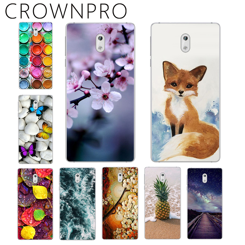 Galleria fotografica CROWNPRO Soft Silicone TPU FOR Capa <font><b>Nokia</b></font> 3 Case Cover Patterned Painted Phone Back Protective Case FOR <font><b>Nokia</b></font> 3