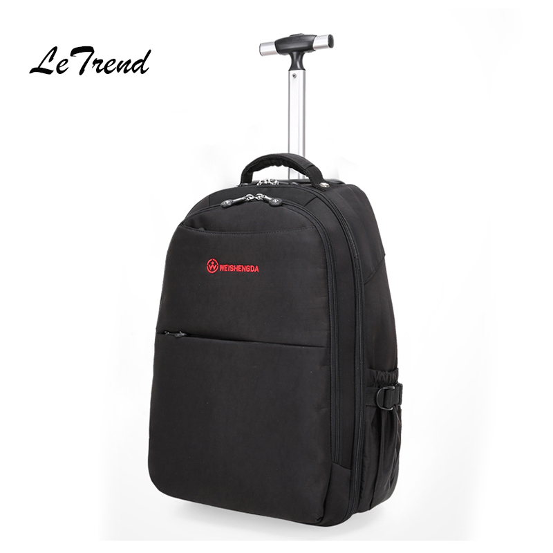Letrend Business Backpack Rolling Luggage Oxford Multifunction Travel Bag Cabin Double shoulder bags Suitcase Wheels Trolley motorcycle bag tank bags motos multifunction luggage universal motorbike oil fuel tank bags magnet oxford saddle bags