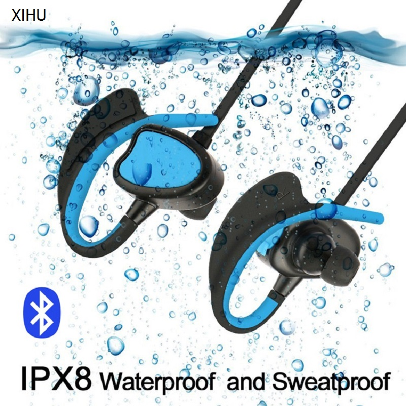 2 Pieces HANGUAN Wireless Earphones IPX8 Waterproof Sweatproof Adjustable Music Calling Swimming Sports Bluetooth Earphones 2 receivers 60 buzzers wireless restaurant buzzer caller table call calling button waiter pager system