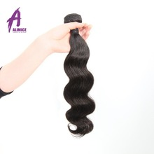 Alimice Brazilian Body Wave Remy Hair Bundles Natural Color 100% Human Hair Weaving 12-26 inch