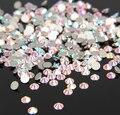 Super Brilhante SS3-SS34 Limpar AB Glitter Não Hotfix Cristal AB Cor 3D Decorações Nail Art Natator Pedrinhas Pedras de Strass