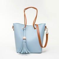 Sets Handbag Blue Black Women Composite Female Large Capcity Totes Fashion Shoulder Crossbody Bag Small Purse