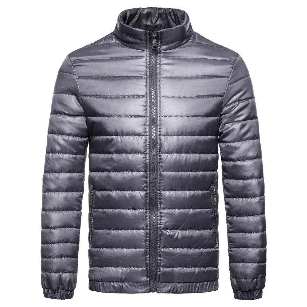 Brang Men's Down Jacket Ultralight Down Jacket Men Stand Collar Winter Feather Windbreaker Lightweight Warm Thin Parka