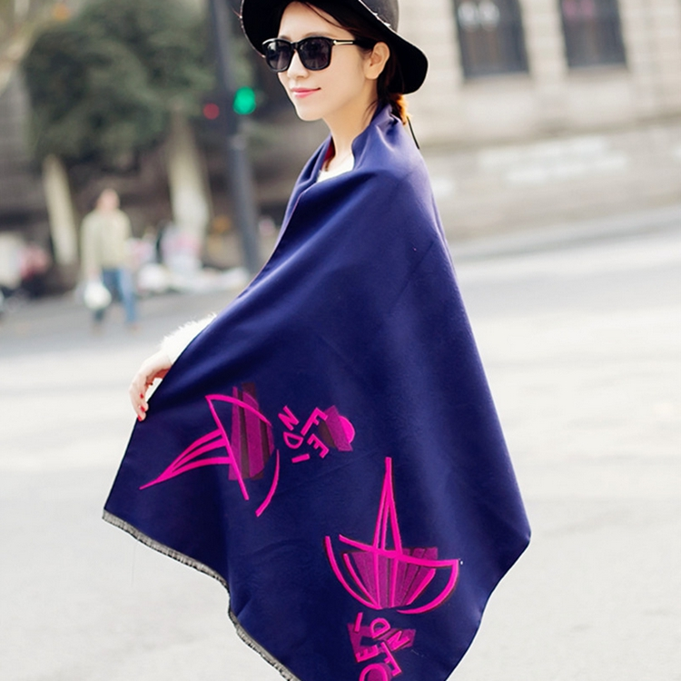 60*195 cm Fashion brand Cashmere scarf Women Double wool scarves high quality Winter Warm Cape Scarf Shawl cachecol echarpe