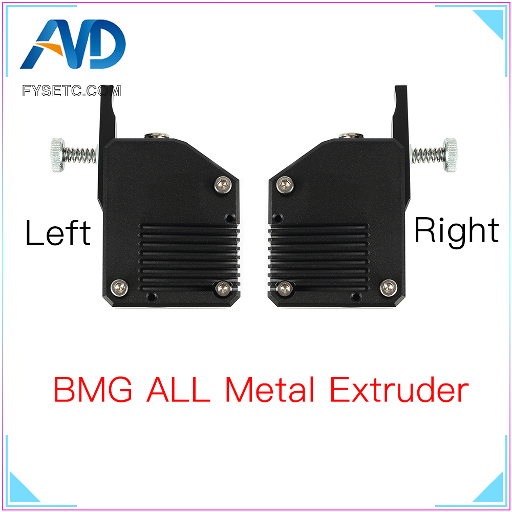 BMG All Metal Extruder Left Right Cloned Btech Bowden Extruder Dual Drive Extruder For Creality CR10 Ender 3 Wanhao D9 Anet E10