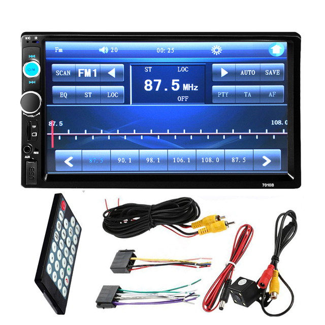 Din Car Stereo Am Fm With Rear View Camera