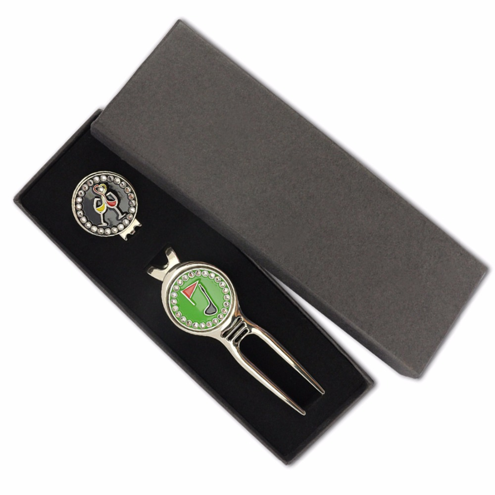 Golf Ball Marker Golf Hat Clip Golf Divot Tool Golf Gift Box Sets