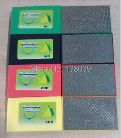 90*55mm diamond electroplated hand polishing pads for granite marble, glass and other stone 20 pieces a pack
