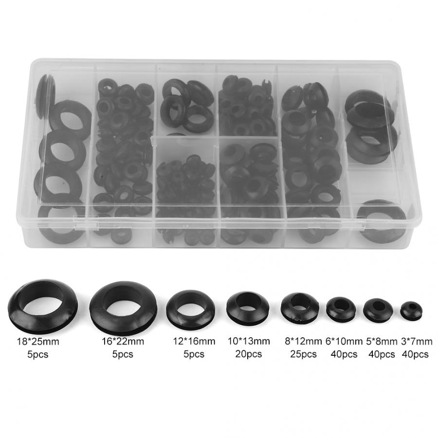 Pack of 10 Rubber Wiring Grommets 6mm