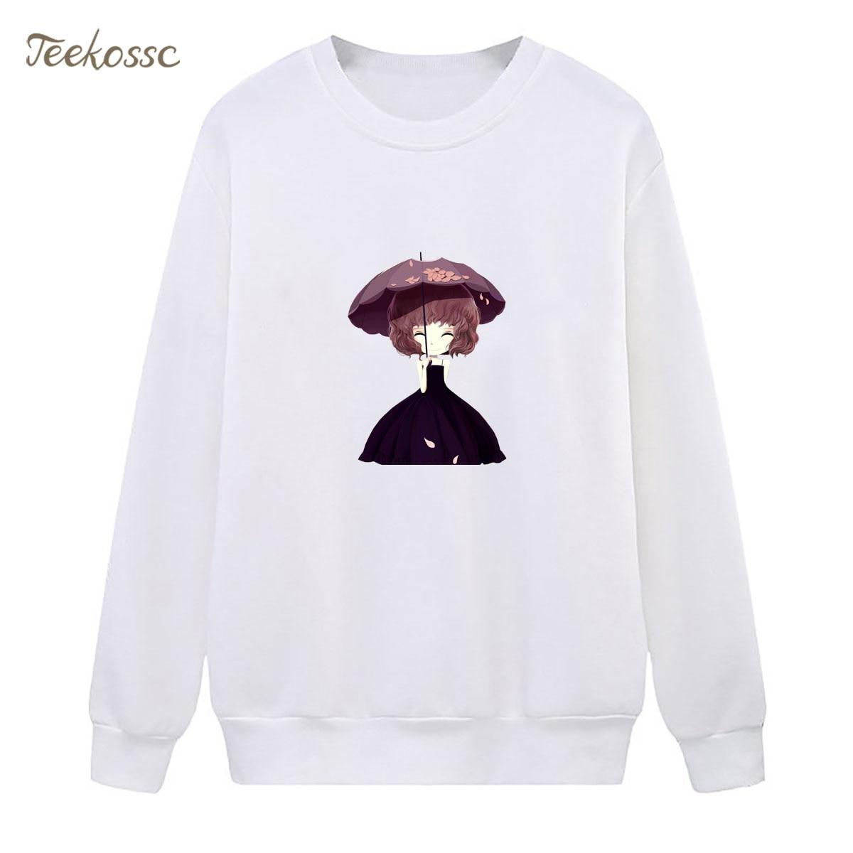 Girls Sweatshirt White Hoodie 2018 New Design Winter Autumn Women Lasdies Pullover Fleece Warm Loose Casual Hipster Streetwear
