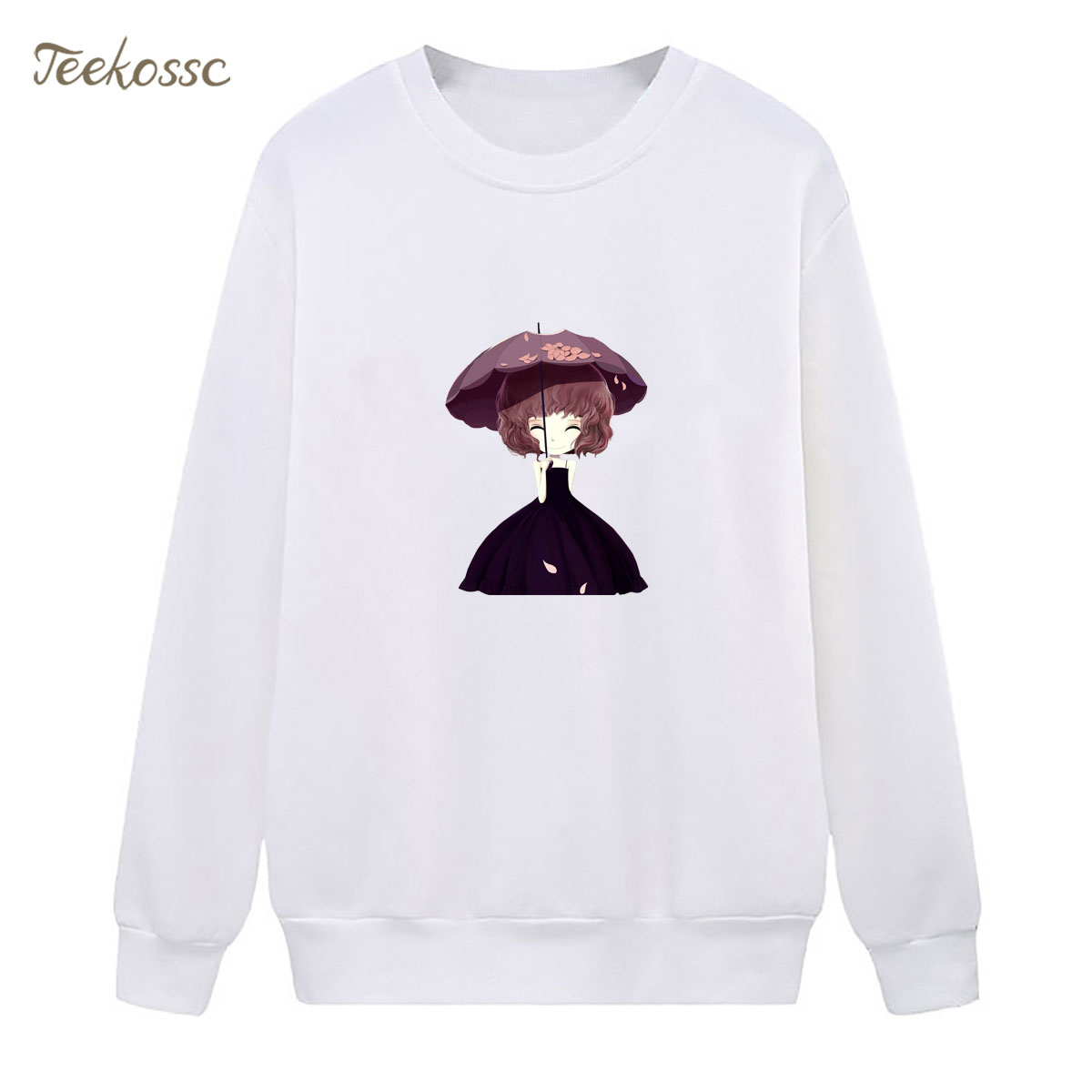 Girls Sweatshirt White Hoodie 2018 New Design Winter Autumn Women Lasdies Pullover Fleece Warm Loose Casual Hipster Streetwear
