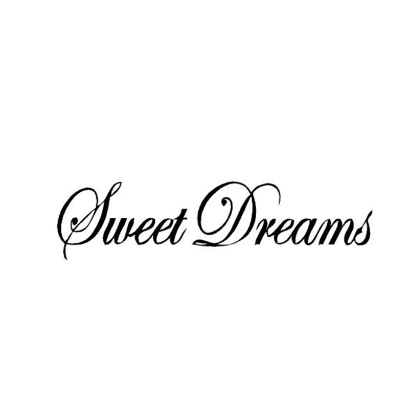 Large Size Lettering Words Sweet Dreams Vinyl Wall Stickers Sweet