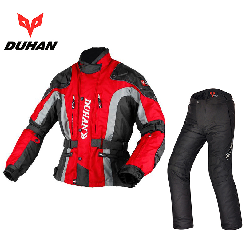 DUHAN Summer Winter Clothes Motocross Racing Warm Motorcycle Jackets Pants 600D Oxford Moto Motorbike Suits Coats