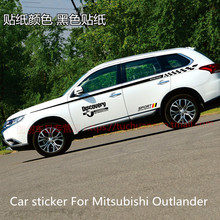 for Mitsubishi Outlander Car sticker flower Full car body waistline sticker Outlander appearance modified color bar car accessories car sticker stainless steel slim for outlander wording 3d letter sticker trim for mitsubishi outlander