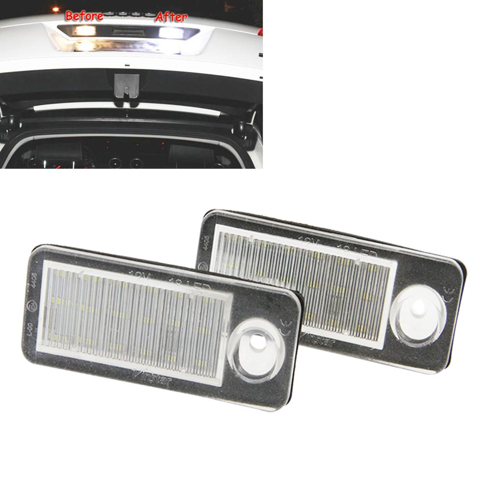 White 2x Car led rear number License plate light For Audi A4 B5 Avant S4 B5 Avant A6 B4 C5 RS6/RS6 Plus A6 S6 B4 C5 Avant RS4