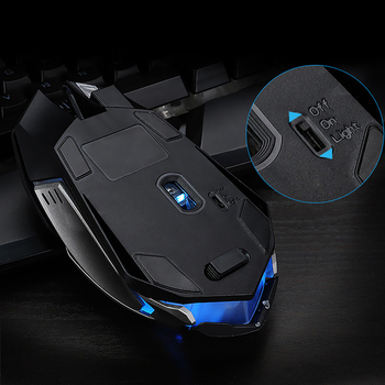 Wolf Spirit Rechargeable Wireless LED Backlight USB Optical Ergonomic Gaming Mouse Sem Fio Fashion Games Mouse For Pro Gamer