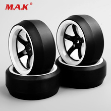 1/10 Scale D5NWK+PP0369 Flat Drift Tires&Wheel Rim with 6mm Offset and 12mm Hex fit HPI HSP 1:10 On-Road Car Accessories