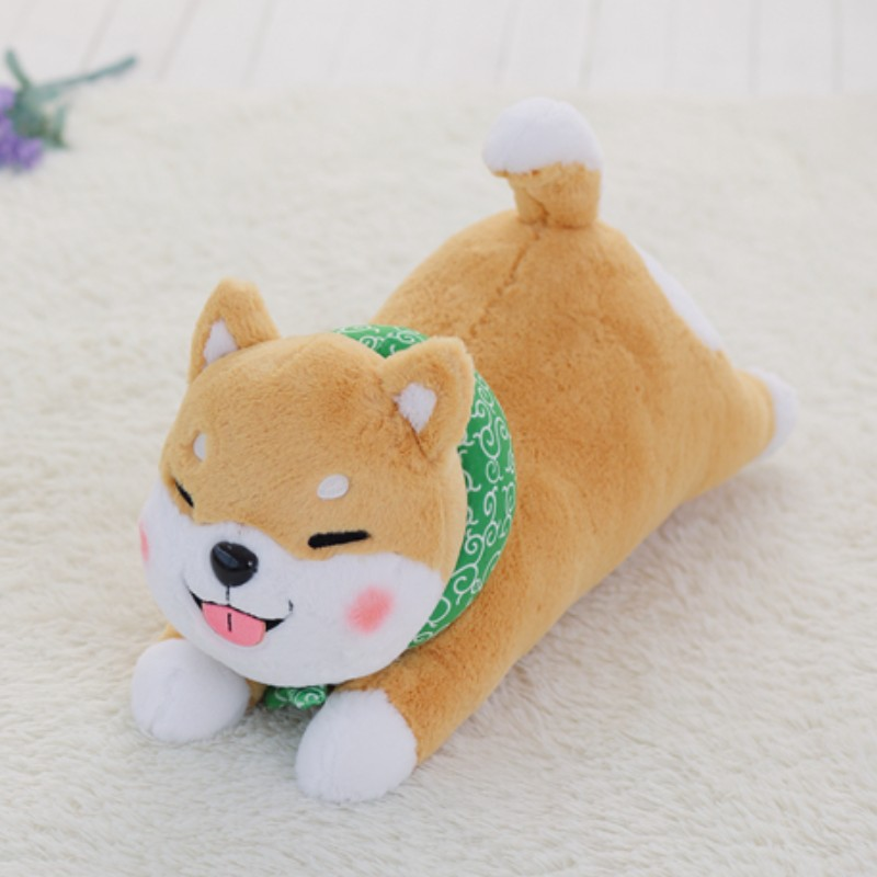Hot Selling Stuffed Shiba Inu Dog Plush Toy Cute Lying Corgi Plush Animal Soft Pillow Cushion Gift For Children 1pc 55cm cute fat shiba inu dog plush pillow stuffed soft cartoon animal toys lovely kids baby children christmas gift dolls