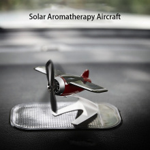 Car styling aircraft decorative anti-slip mat solar rotating dashboard solid car decoration