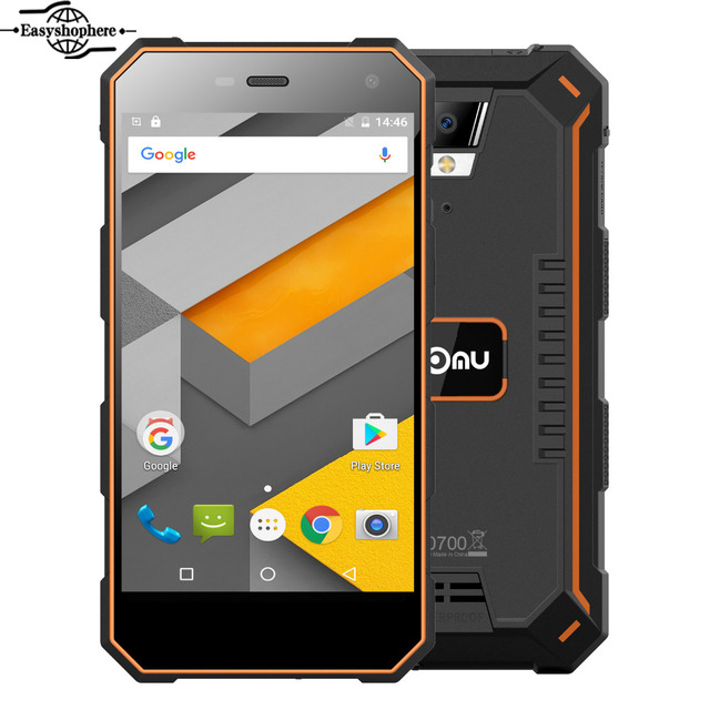 Nomu S10 Mobile Phone 5 Inch Quad Core 2GB+16GB MTK6737T Smartphone 5000mAh Quick Charge 13.0MP 1280x720 IP68 Waterproof Phone