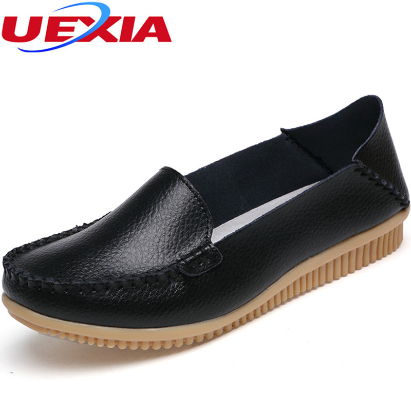Rubber Bottom Moccasins Leather Flowers Loafers Soft Loafers Hand-sewn Flats Driving Casual Footwear Solid Boat Shoes Zapatos uexia walking spring summer leather hand sewn men shoes casual footwear slip on designer luxury flats driving loafers moccasins