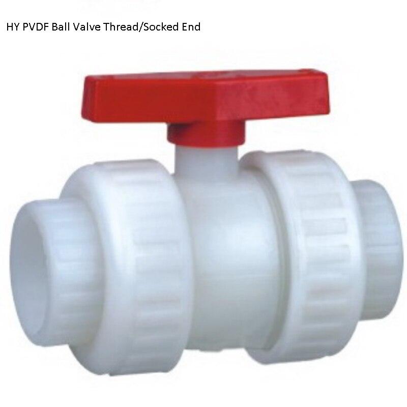 DN100 ручной разъем CPVC шаровой кран, клапан, UPVC пластиковый шаровой клапан с резьбой, PVDF шаровой кран, клапан, пластиковый Rpp шаровой клапан
