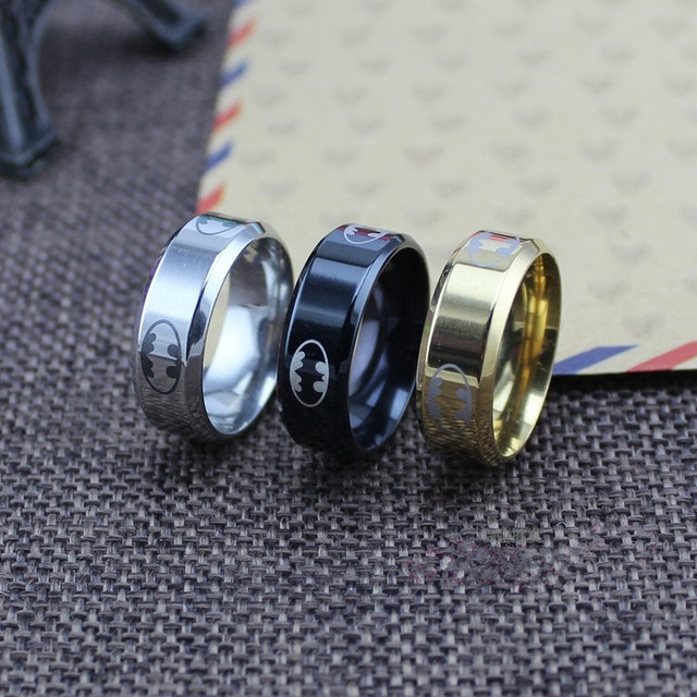 (1 pieces/lot) 100% Stainless Steel Ring Batman Rings For men & women Super Hero