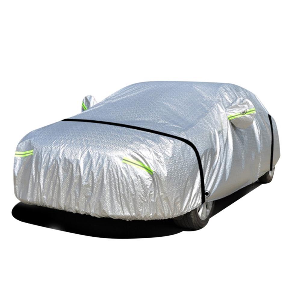 Nouveau Film en aluminium coton velours épaississement voiture vêtements été pluie pare-soleil bâche de voiture coupe-vent ceinture