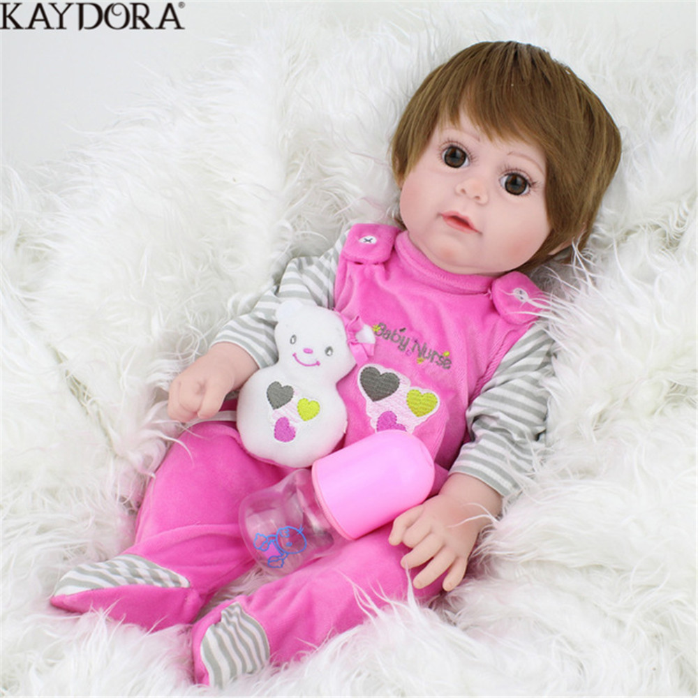 KAYDORA Baby Dolls Reborn 43 cm Girls Toys Gift For Kids With Plush Toy Real Silicon