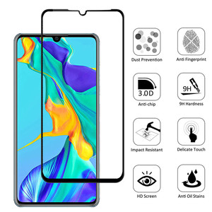 Image 2 - 2in1 protective glass for huawei p30 p40 lite camera screen protector tempered glass for huawei p 30 40 lite 30lite 40lite light