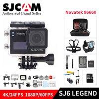 Оригинальный SJCAM SJ6 Легенда 4 К 24fps Ultra HD Notavek 96660 Водонепроницаемый действие Камера 2,0 Сенсорный экран дистанционного Спорт DV go pro cam