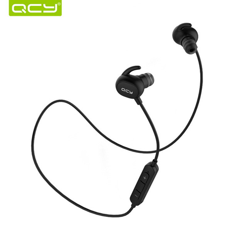 QCY QY19 in-ear Bluetooth headset gamer wireless sports running earphone waterproof earbuds noise cancelling and QCY storage box цена 2017